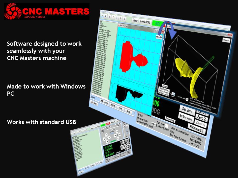 CNC Lathe & Milling Machine Software for Sale | CNC Masters